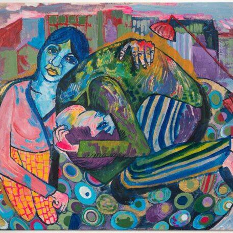 Modern life, acryl on canvas, 80 x 60