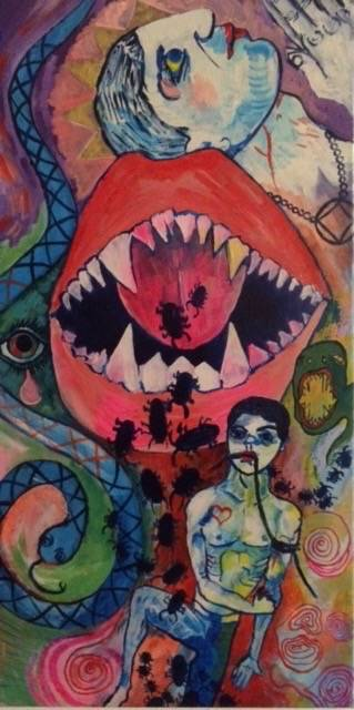 From Hell, acryl on canvas, 80 x 40