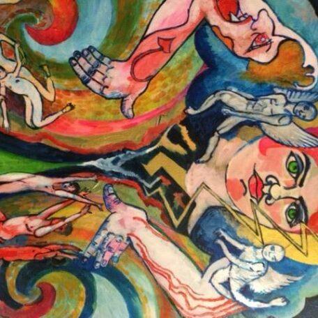 Protect us, acryl on canvas, 70 x 60