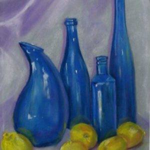 Blue Bottles And Lemons