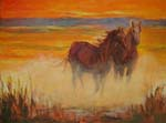 Galoping Horses